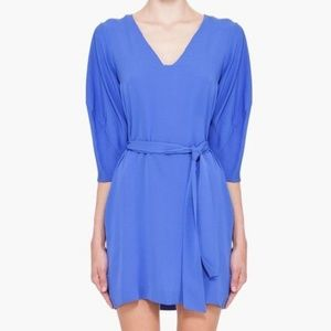 DVF Iliana Belted Periwinkle Dress Size 2